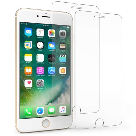 iphone   tempered glass screen protector twin pack