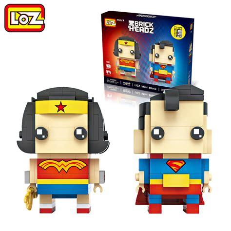 Mini Block 1 aliexpress buy loz and superman 2in1 mini blocks brick heads figure
