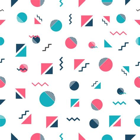 memphis pattern ai memphis style pattern design vector free download