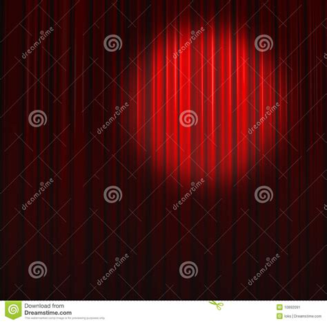deep red curtains deep red curtain with small spot top right stock image