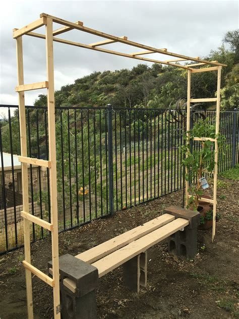 diy arbor trellis trellis for my grape vine simple diy under 10 garden