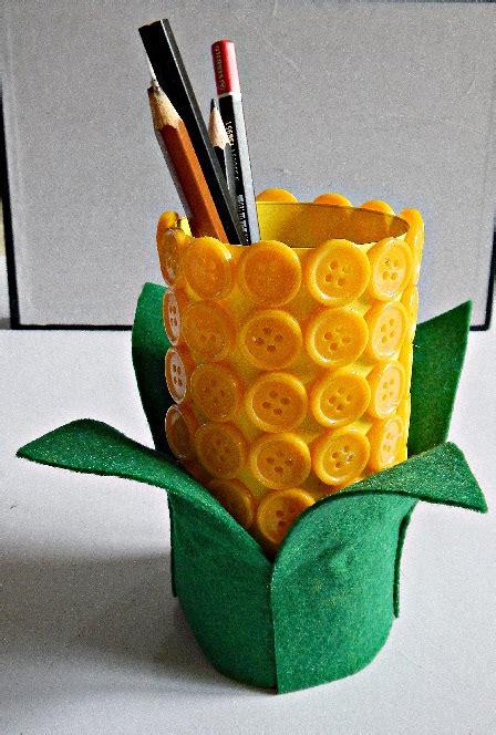 harvest crafts harvest festival felt button corn pencil holder