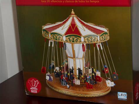 swing around crossword mr christmas holiday living swing carousel 37009 animation