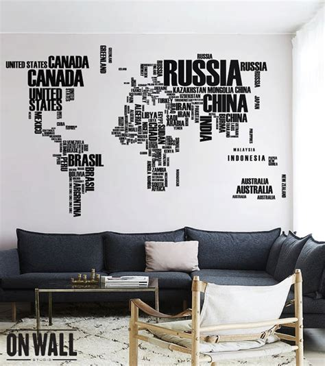 world map with country names decal world map wall decal with country names removable vinyl map