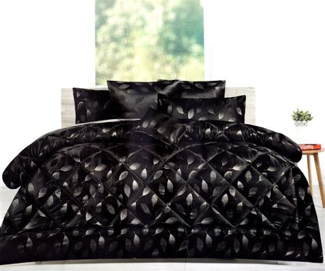 charcoal grey bedding 6p willoughby black charcoal grey silver leaf jacquard