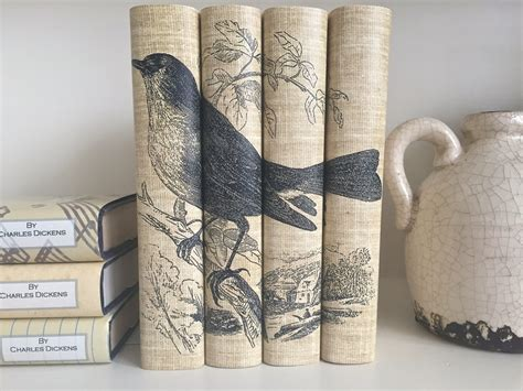 Decorative Book Covers decorative books with bird book covers neutral color bird