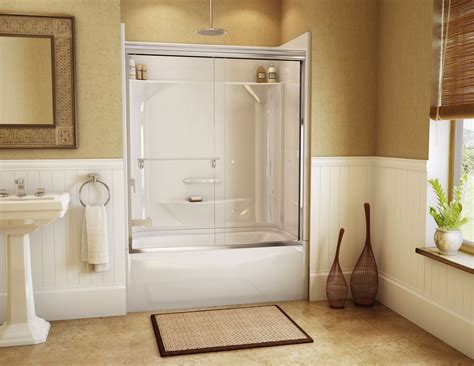 bathtub shower walls kdts 2954 alcove or tub showers bathtub maax