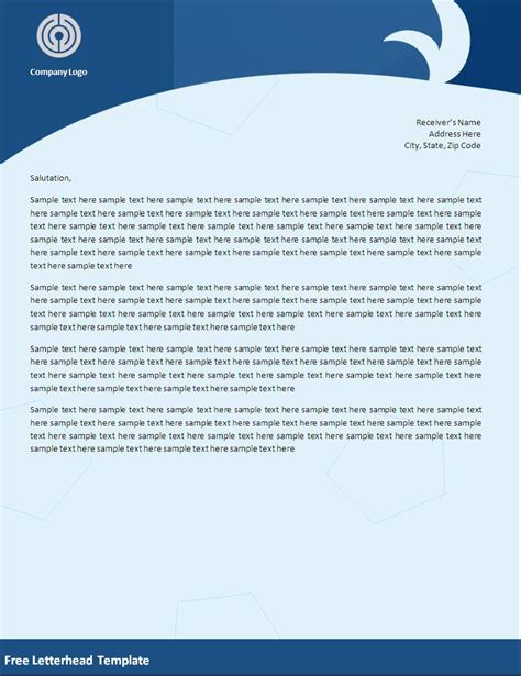 letterhead templates free free letterhead template formats exles in word excel
