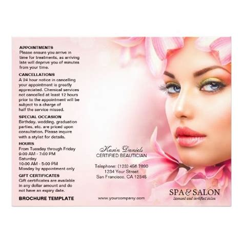 Wedding Spa Brochure by 89 Best Images About Spa And Salon Flyers Brochures