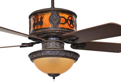 Western Ceiling Fans With Lights Cc Kvshr Brz 3rsts Lk420 3 Riders Western Ceiling Fan With Light Kit