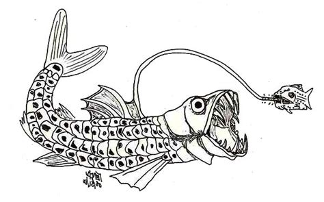 monster fish coloring pages viperfish coloring download viperfish coloring