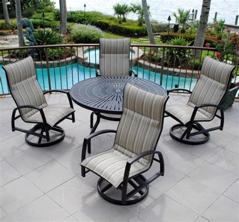 backyard creations 5 piece sanibel dining collection at