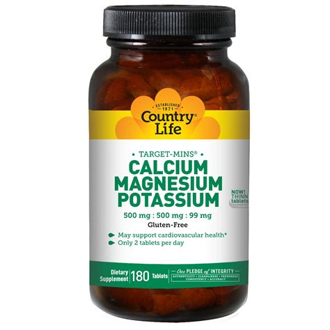 supplement potassium country calcium magnesium and potassium 500 mg