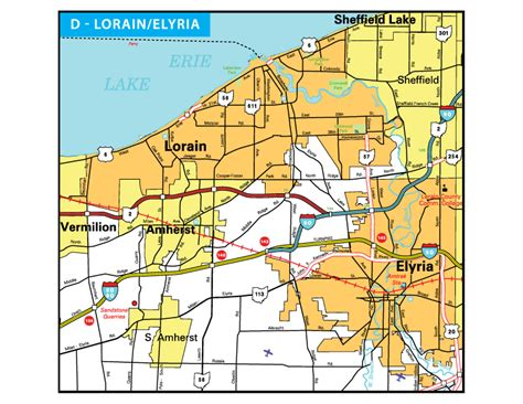 map of lorain ohio pages ohio transportation map