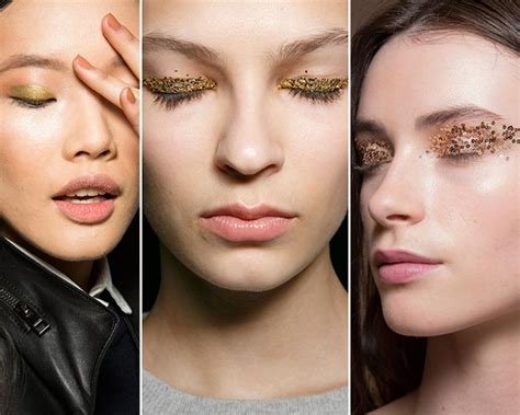 Fall 2008 Trend Glitter Eye by Fall Winter 2015 2016 Makeup Trends Fashionisers