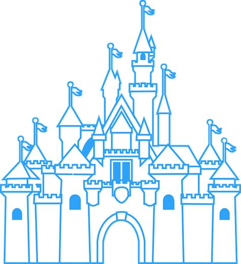Disney World Castle Outline by Disneyland Castle Outline Www Imgkid The Image Kid Has It