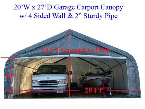 Tarp Garages by 20 X 27 Garage Canopy Awning Tent Carport Boat 20x27 Ebay