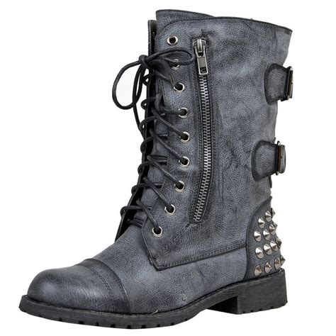 harley 12 womens lace up studded combat boot