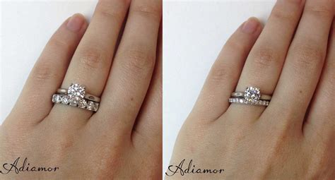 Engagement Rings With Wedding Bands by How Do Like To Wear Wedding Bands Adiamor