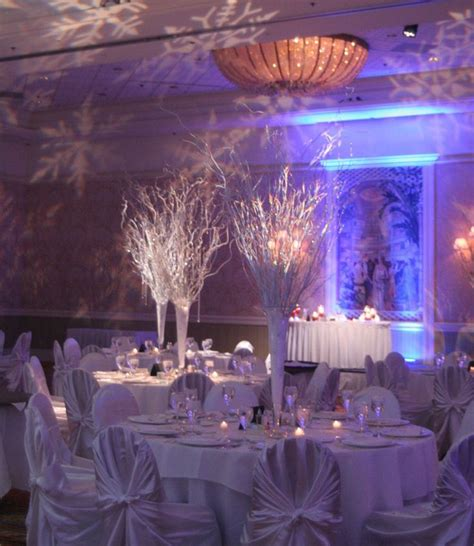 winter venue decorations winter venue setting winter wedding