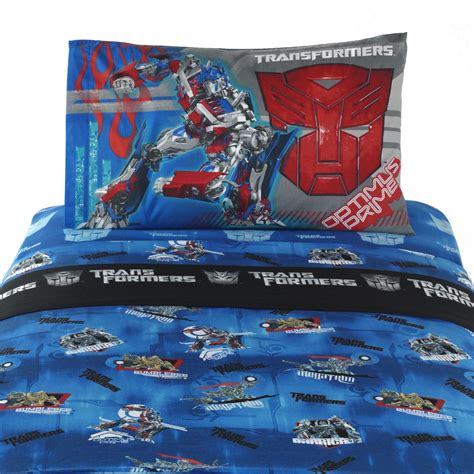 transformers bed transformers full sheet set