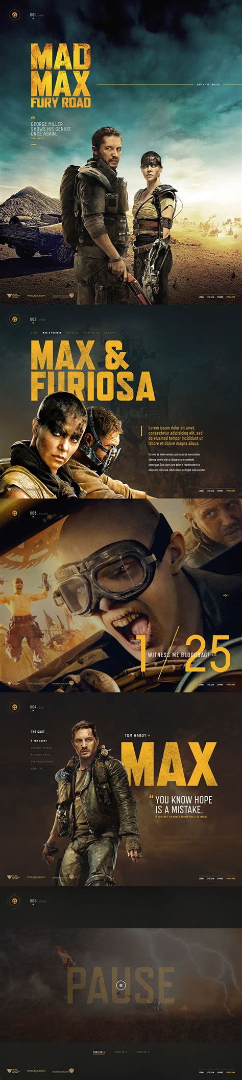 Mad Max Layout 5546 best web designs images on website