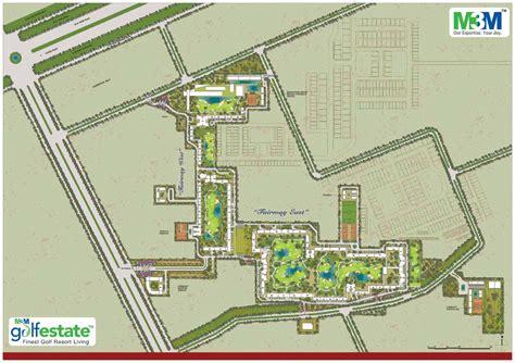 estate layout plan land registry m3m golf estate master plan
