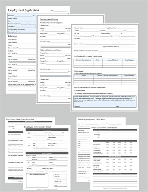 Hiring Documents List