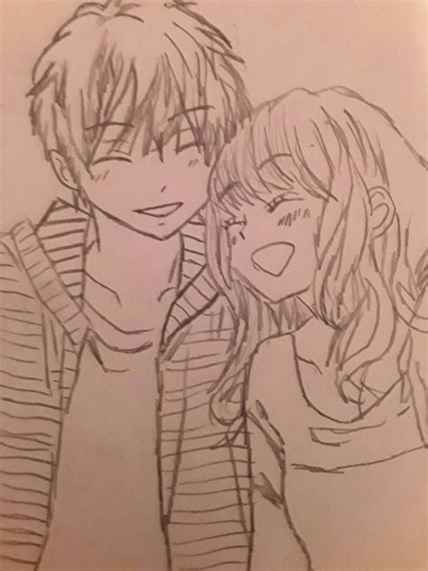 Drawings Of Anime Couples anime drawing in progress by skyfiredaydream on