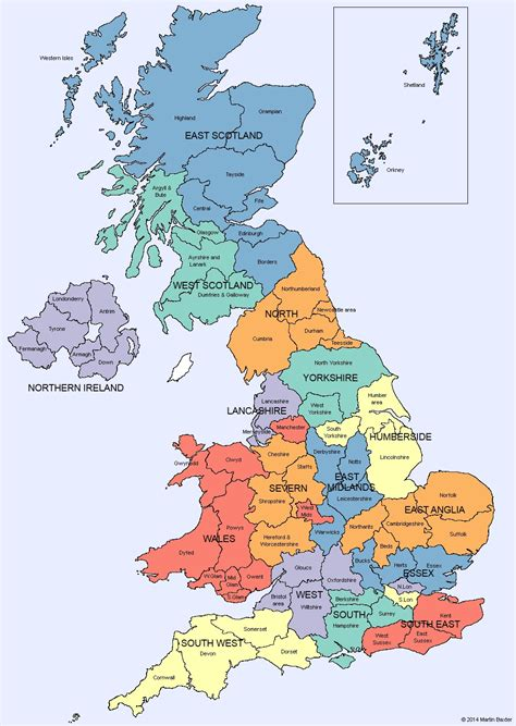 map uk and wales u k map of regions and counties of scotland