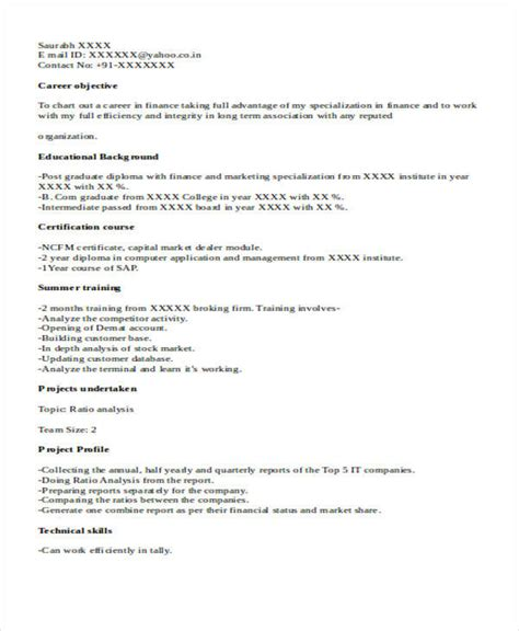 fresher accountant resume sle 33 accountant resume sles