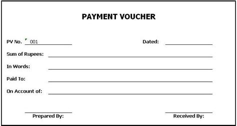 Credit Voucher Format In Word General Knowledge Library Payment Voucher Template