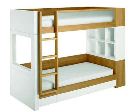 Bunk Bed Shelf Ikea Two Tone White And Brown Wooden Ikea Loft Bed With Ladder Also 6 Column Book Shelf For Small