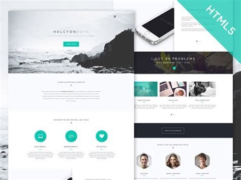 free html template code halcyon days free html5 website template freebiesbug