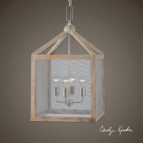 wood lantern pendant light 4 light cottage wood lantern pendant screen mesh coastal
