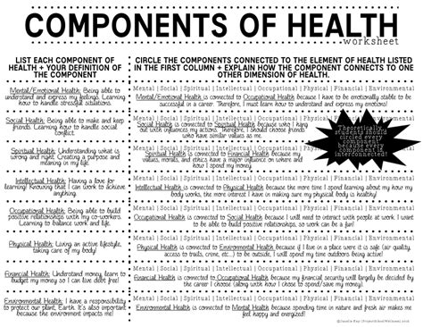 6th grade health class worksheet worksheets for all