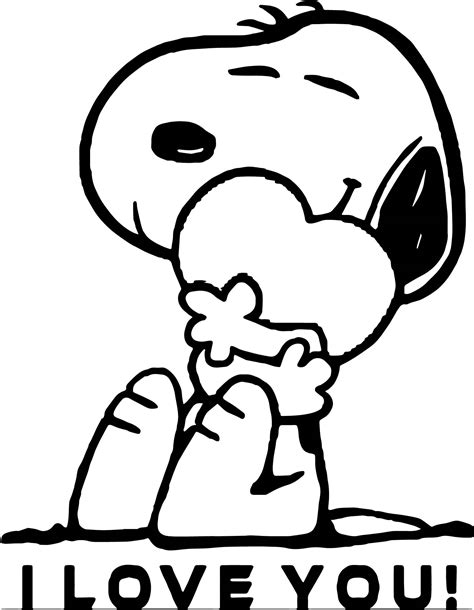 i you coloring pages snoopy i you coloring page wecoloringpage