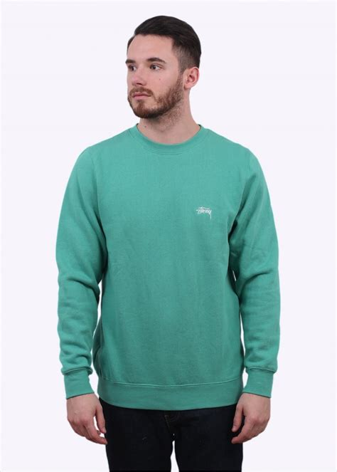 Sweater Stussy Stussy Back Arc Sweater Green T Shirts From Triads Uk