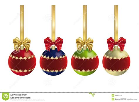christmas decoration with ribbon stock illustration