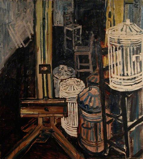 Dustbins In The Studio 1954 John Bratby Wikiart Org Bratby Kitchen Sink