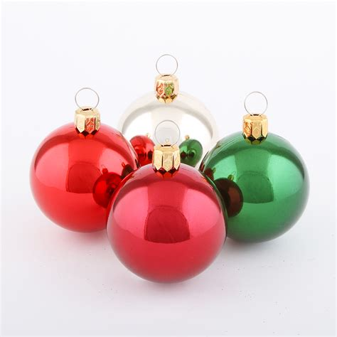 12ct 48mm ball shatterproof christmas ornaments with shiny