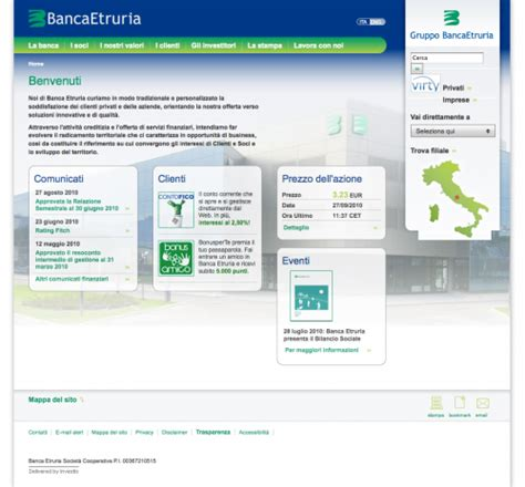 banca etruria home banking what color is your money showcase of bank websites