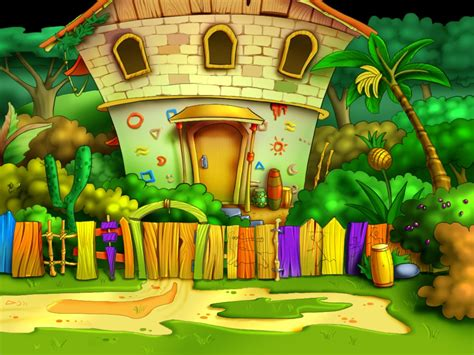 awesome home garden painting share on facebook imagefullycom amazing cartoon hd wallpaper free download 1080p 2013