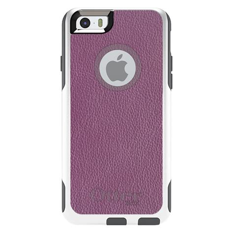 otterbox commuter for iphone 5s se 6 6s 7 plus purple leather texture ebay