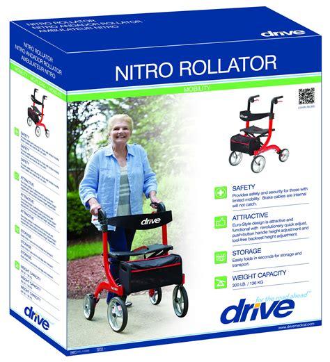 andadera rollator nitro aluminio roja llantas delan 10 andadera rollator nitro aluminio roja llantas delan 10