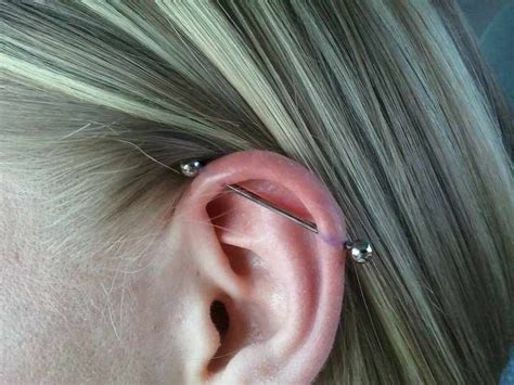 trident industrial piercing industrial piercing with trident barbell