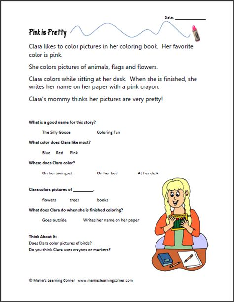Free Printable Kindergarten Reading Worksheets by 1st Grade Reading Comprehension New Calendar Template Site