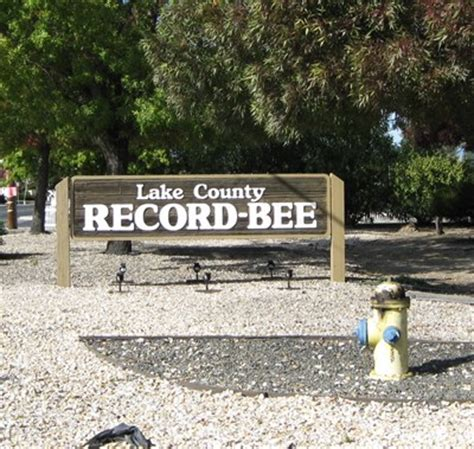 Bee County Records Lake County Record Bee Lakeport Ca Newspaper Headquarters On Waymarking