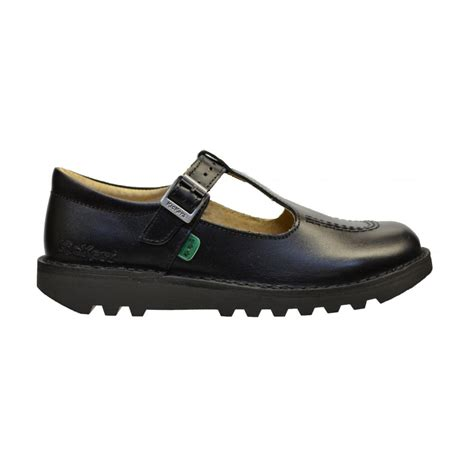 kicker shoes kickers kickers kick t j leather black n53