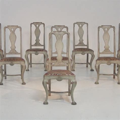 swedish furniture set of 8 rare swedish baroque style dining chairs in furniture